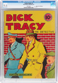 Platinum Age (1897-1937):Miscellaneous, Feature Books #4 Dick Tracy - Mile High Pedigree (David McKay Publications, 1937) CGC NM 9.4 White pages....