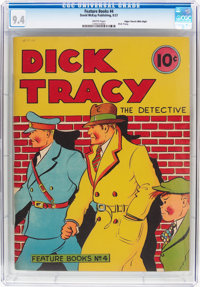 Feature Books #4 Dick Tracy - Mile High Pedigree (David McKay Publications, 1937) CGC NM 9.4 White pages