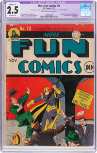 More Fun Comics #73 (DC, 1941) CGC Apparent GD+ 2.5 Slight (C-1) Off-white pages