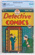Golden Age (1938-1955):Crime, Detective Comics #25 (DC, 1939) CBCS GD- 1.8 Cream to off-white pages....