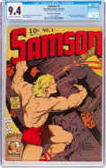 Golden Age (1938-1955):Superhero, Samson #1 Mile High Pedigree (Fox Features Syndicate, 1940) CGC NM 9.4 Off-white to white pages....