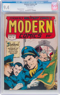 Golden Age (1938-1955):War, Modern Comics #46 (Quality, 1946) CGC NM 9.4 Off-white pages....