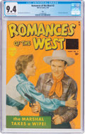 Golden Age (1938-1955):Western, Romances of the West #2 Ohio Pedigree (Marvel/Timely, 1950) CGC NM9.4 Off-white to white pages....