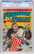 Golden Age (1938-1955):Horror, Forbidden Worlds #6 (ACG, 1952) CGC NM- 9.2 Off-white to white pages....