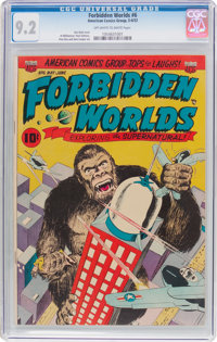 Forbidden Worlds #6 (ACG, 1952) CGC NM- 9.2 Off-white to white pages
