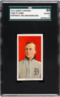 Baseball Cards:Singles (Pre-1930), 1909-11 T206 Sweet Caporal Ty Cobb (Red Portrait) SGC 80 EX/NM 6....