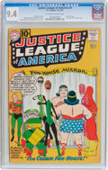 Silver Age (1956-1969):Superhero, Justice League of America #7 (DC, 1961) CGC NM 9.4 Off-white towhite pages....