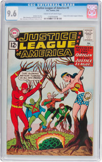 Justice League of America #9 (DC, 1962) CGC NM+ 9.6 Cream to off-white pages