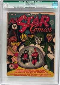 All Star Comics #8 Married Cover (DC, 1942) CGC Qualified GD- 1.8 Off-white pages