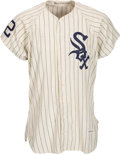 Baseball Collectibles:Uniforms, 1964 Frank Baumann Game Worn Chicago White Sox Jersey & 1965 Danny Cater Game Worn Chicago White Sox Pants.... (Total: 2 item)