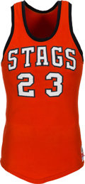 "Basketball Collectibles:Uniforms, 1960's ""Stags"" Game Worn Basketball Jersey...."