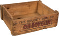 "Non-Sport Cards:Unopened Packs/Display Boxes, C. 1930 Goudey ""Oh Boy Gum"" Wood Shipping Crate...."