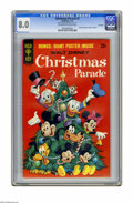 Bronze Age (1970-1979):Cartoon Character, Christmas Parade #7 File Copy (Gold Key, 1970) CGC VF 8.0 Off-whiteto white pages. Disney characters pull-out poster includ...