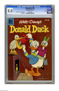 """Silver Age (1956-1969):Cartoon Character, Donald Duck #65 File Copy (Dell, 1959) CGC VF 8.0 Off-white pages. Carl Barks cover. Tony Strobl art. CGC notes: """"From the R..."""