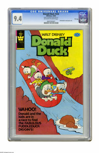 Donald Duck #222 File Copy (Whitman, 1980) CGC NM 9.4 Off-white to white pages. Distributed in multi-packs only. Overstr...