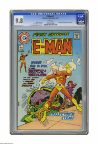 E-Man #1 (Charlton, 1973) CGC NM/MT 9.8 White pages. Origin and first appearance of E-Man. Joe Staton cover and art. Ove...