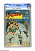 Golden Age (1938-1955):Superhero, Flash Comics #91 (DC, 1948) CGC FN+ 6.5 White pages. Cover by Joe Kubert. Art by E. E. Hibbard, Carmine Infantino, and Chest...