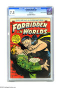 Golden Age (1938-1955):Horror, Forbidden Worlds #15 Mile High pedigree (ACG, 1953) CGC VF- 7.5White pages. Overstreet 2005 VF 8.0 value = $127. CGC census...