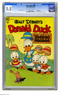 "Golden Age (1938-1955):Funny Animal, Four Color #238 Donald Duck in ""Voodoo Hoodoo"" (Dell, 1949) CGC FN-5.5 Cream to off-white pages. Carl Barks story and art. ..."