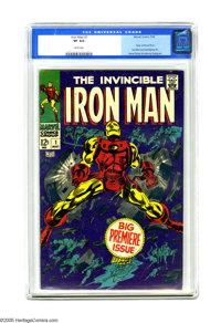 Iron Man #1 (Marvel, 1968) CGC VF 8.0 White pages. Origin retold. Gene Colan cover and art. Overstreet 2005 VF 8.0 value...