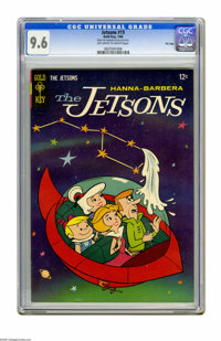 """The Jetsons #19 File Copy (Gold Key, 1966) CGC NM+ 9.6 Off-white to white pages. CGC notes: """"From the Random House..."""