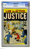 Golden Age (1938-1955):Crime, Justice Comics #5 Mile High pedigree (Atlas, 1948) CGC NM 9.4 Off-white to white pages. This is the only copy of this issue ...