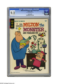 """Milton the Monster and Fearless Fly #1 File Copy (Gold Key, 1966) CGC NM- 9.2 Off-white pages. CGC notes: """"From the..."""