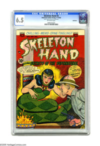 "Skeleton Hand #2 Bethlehem pedigree (ACG, 1952) CGC FN+ 6.5 Off-white pages. CGC notes: ""Bottom staple missing, not..."
