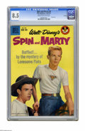 """Silver Age (1956-1969):Adventure, Spin and Marty #8 File Copy (Dell, 1959) CGC VF+ 8.5 Cream to off-white pages. Photo cover. CGC notes: """"From the Random Hous..."""