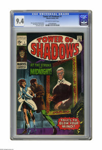 Tower of Shadows #1 (Marvel, 1969) CGC NM 9.4 Off-white to white pages. Cover by John Romita Sr. Art by Jim Steranko, Jo...