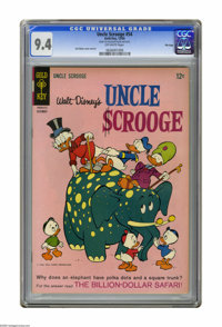 "Uncle Scrooge #54 File Copy (Gold Key, 1964) CGC NM 9.4 Off-white pages. Carl Barks cover and art. CGC notes: ""From..."