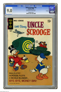 """Uncle Scrooge #76 File Copy (Gold Key, 1968) CGC VF/NM 9.0 Off-white to white pages. CGC notes: """"From the Random Ho..."""