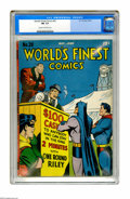 Golden Age (1938-1955):Superhero, World's Finest Comics #28 (DC, 1947) CGC FN- 5.5 Cream to off-white pages. Overstreet 2005 FN 6.0 value = $261. CGC census 1...