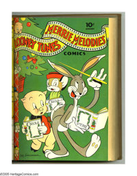 Looney Tunes and Merrie Melodies Comics #13-24 Bound Volume (Dell, 1942-43). These are Western Publishing file copies th...