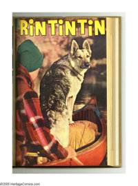 Rin Tin Tin #4-15 Bound Volume (Dell, 1954-56). These are Western Publishing file copies that have been trimmed and boun...