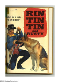 Rin Tin Tin #16-27 Bound Volume (Dell, 1956-58). These are Western Publishing file copies that have been trimmed and bou...