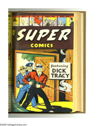 Super Comics #49-60 Bound Volume (Dell, 1942-43). These are Western Publishing file copies that have been trimmed and bo...