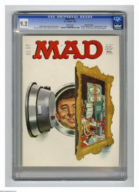 "Mad #120 Gaines File pedigree (EC, 1968) CGC NM- 9.2 White pages. ""Cool Hand Luke"" parody. Norman Mingo cover..."
