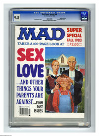 Mad Special #44 Gaines File pedigree (EC, 1983) CGC NM/MT 9.8 White pages. Sex and Love issue. Jack Rickard cover. Overs...