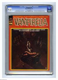 Vampirella #8 (Warren, 1970) CGC NM- 9.2 Off-white to white pages. First time Vampirella appears as a serious character...