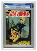 Magazines:Horror, Vampirella #96 (Warren, 1981) CGC NM 9.4 White pages. Pantha story. Jose Gonzalez frontispiece. Enrich cover. Rudy Nebres, A...