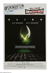 "Alien (20th Century Fox, 1979). Belgian (14"" X 21""). ""A survivor... unclouded by conscience, remorse, or..."