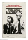 "Movie Posters:Drama, All the President's Men (Warner Brothers, 1976). Poster (40"" X 60""). ""Nothing's riding on this except the first amendment to..."