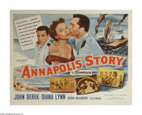"An Annapolis Story (Allied Artists, 1955). Half Sheet (22"" X 28""). John Derek and Kevin McCarthy are Naval cad..."