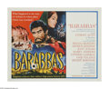 "Movie Posters:Adventure, Barabbas (Columbia, 1962). Half Sheet (22"" X 28""). Anthony Quinnplays Barabbas, the common criminal who is set free when Je..."