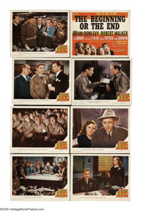 """The Beginning or the End (Loew's, 1947). Lobby Card Set of 8 (11"""" X 14""""). This 1940s docudrama tells the story..."""