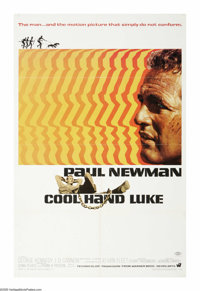"Cool Hand Luke (Warner Brothers, 1967). One Sheet (27"" X 41""). Paul Newman plays one of moviedom's most famous..."