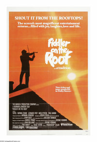 """Fiddler on the Roof (United Artists, R-1979). One Sheet (27"""" X 41""""). """"I know, I know. We are Your chosen..."""