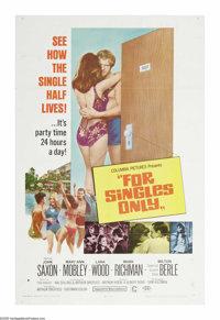 "For Singles Only (Columbia, 1968). One Sheet (27"" X 41""). Sort of a musical about swingin' singles and the two..."