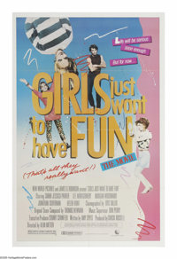"Girls Just Want to Have Fun (New World Pictures, 1985). One Sheet (27"" X 41""). This 1980s teen flick about you..."